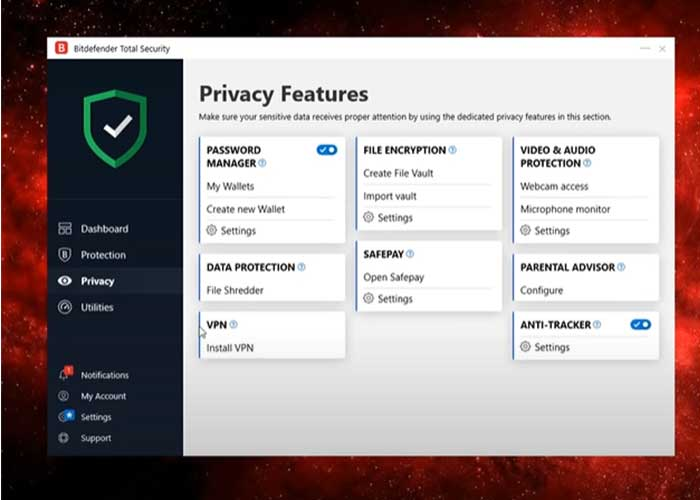 Bitdefender-Privacy-Features