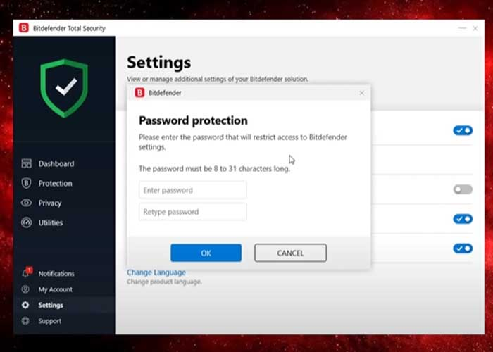 Password-Protection-settig-in-Bitdefender-software