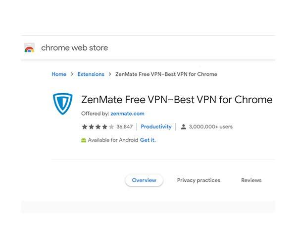 ZenMate-Free-VPN
