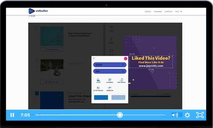 vidbullet-video-maker-software-screenshot
